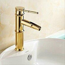 Gold Messing poliert Wasserhahn Waschbecken