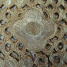 Gold Nacken Patch-Dekorative Nähen Floral Design Kleid Arm Craft Indische Kuns