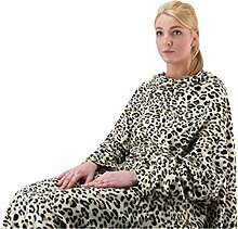 Gold rush Leopard Print Decke mit Ärmeln