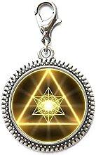 Gold Sacred Geometrie Cabochon Glas