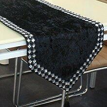 Gold samt,& schwarz-weiß,drill schnalle table