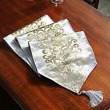 Gold Samt Tischläufer, European Bronzing Muster,