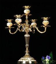 Gold/Silber Weiß Legierung Luxus Drei/Fünf Headholder Heimtextilien Hochzeit Hotel Dekoration Dekoration Golden Weiß Fünf Leuchter Windlichthalter Kerzenhalter