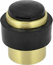 Gold Tone Stainless Steel Gummi-Türstopper, 41 mm x 37 mm