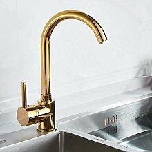 Gold Wasserhahn Gold Messing für kalten und