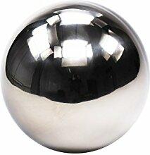 Goldbach Edelstahl Kugel Beleuchtung, Silber 25 cm