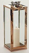 Goldbach Metall Laterne mit Kordel, Kupfer, 13x