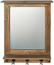 Goldbach Wandspiegel aus Holz mit 3Haken, Holz,