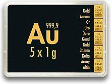 Goldbarren 5 Gramm 999.9 Feingold - 5 x 1g Gold in