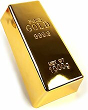 Goldbarren für Deko, in Goldfarbe, 1 Kilo, 17 x 8