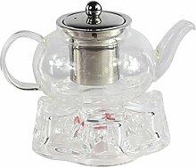 GOLDBEARUK Teekanne aus klarem Glas, Edelstahl,
