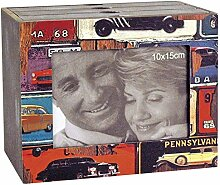 Goldbuch 001219 Fotobox Mustang, aus Holz mit drei
