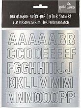 goldbuch 10209 Klebebuchstaben Set in Silber,