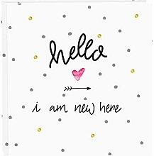 Goldbuch Baby-Fotoalbum, Hello I am New here, 30 x