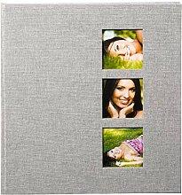 Goldbuch Fotoalbum mit 3 Fensterausschnitten,