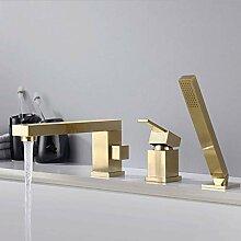 Goldbürste Badewanne Wasserhahn Mischbatterie mit