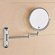 Golden Alle kupfer antiken badezimmerspiegel badezimmer spiegel badezimmer klappspiegel vergrößerte doppelseitige schminkspiegel teleskopspiegel, silber