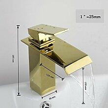 Golden Brass Badezimmer Waschbecken Mischbatterie