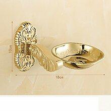 Golden europäischen Seifenschale/ goldene Seifenschale/Folding WC Rack/ Bad-Accessoires-L