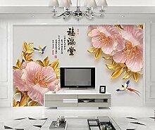 Golden Fototapete 3D 350Cmx245Cm Peony Blume