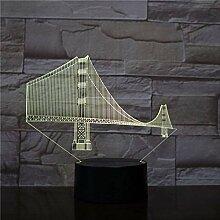 Golden Gate Bridge Art Decoration 3D-Lampe