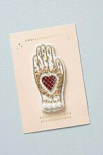 Golden Hand Aufkleber - White