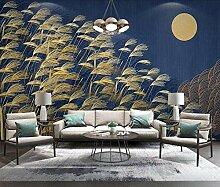 Golden Light Luxus Pflanze Reed Wallpaper Vlies