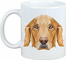 Golden Retriever, Becher mit einem Hund, Tasse, Keramik, neue geometrische Sammlung