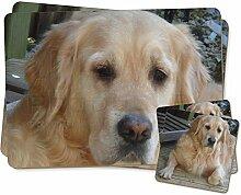 Golden Retriever Hund Zwillings Platzdeckchen und