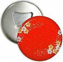 Golden Rot Sakura Muster, Japan rund