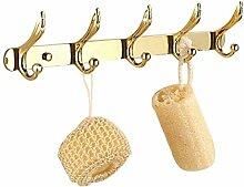 Golden ROZINSANITARY massiv Messing Badezimmer Wohnzimmer Kleiderbügel Huthaken polnisches Handtuchhalter zur Wandmontage