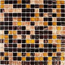 Golden Star Tigers Eye Glas Mosaik Fliesen Matte