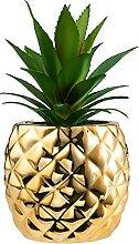 Goldene Ananas Dekoration Porzellan Topf
