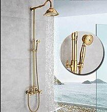 Goldene Badezimmer Dusche Wasserhahn Regendusche