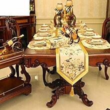 Goldene,europäisch,tischläufer,extravagante premium,moderne einfach,ländlichen,tee tischdecke,flag stoff bett-A 30x210cm(12x83inch)