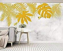 Goldene handbemalte tropische Pflanze lässt