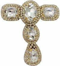 Goldene Hochzeit Brautkleid Brosche simulierter