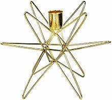 Goldene Kerzenständer Cosma modern (Stern groß)