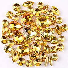 Goldene Klauenfassung, 50 Stück/Beutel, Formenmix