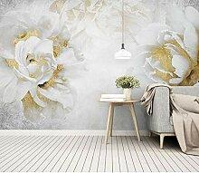 Goldene Rose Blume Tapete Wandbilder für