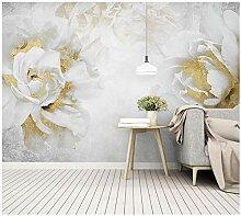 Goldene Rose Blume-Tapete Wandbilder für