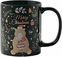 Goldene Weihnachtsbecher Keramikbecher Trinkbecher
