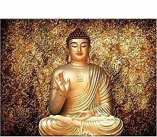 Goldener buddha fototapete buddhistischer tempel