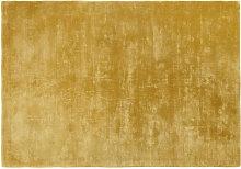Goldenes getufteter Teppich 140x200