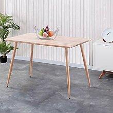GOLDFAN Esstisch Holz Küchentisch Rechteck Modern