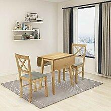 GOLDFAN Esstisch mit 2 Stühlen Klappbarer