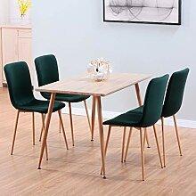 GOLDFAN Esstisch mit 4 Stühlen Essgrupp