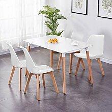 GOLDFAN Esstisch mit 4 Stühlen mit Kissen