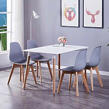 GOLDFAN Esstisch mit 4 Stühlen Moderner 120cm