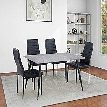 GOLDFAN Esstisch mit 4 Stühlen Moderner
